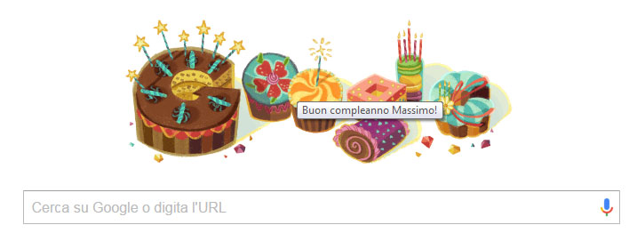 Buon compleanno from Google