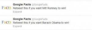 Retweet this: Obama - Romney