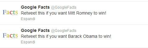 Le intenzioni di voto con un Retweet